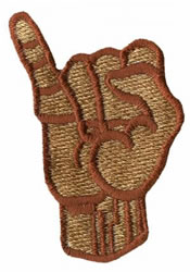 Sign Language I embroidery design