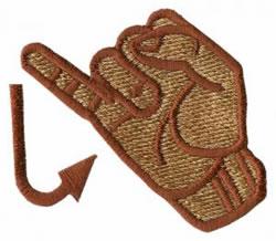 Sign Language J embroidery design
