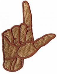 Sign Language L embroidery design