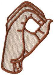 Sign Language O embroidery design