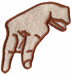 Sign Language Q embroidery design