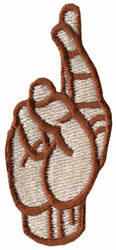 Sign Language R embroidery design