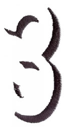 Silhouette 3 embroidery design