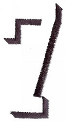Silhouette 7 embroidery design