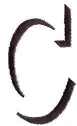 Silhouette C embroidery design