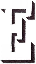 Silhouette E embroidery design
