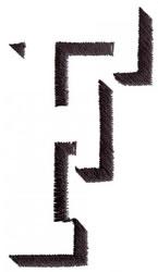 Silhouette F embroidery design