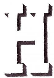 Silhouette H embroidery design