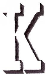 Silhouette K embroidery design