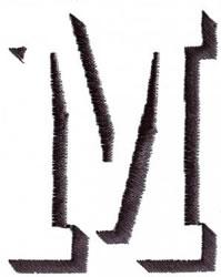 Silhouette M embroidery design