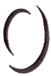 Silhouette O embroidery design