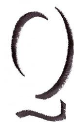 Silhouette Q embroidery design