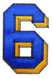 6 Zig-Zag embroidery design