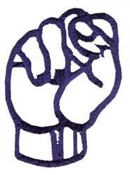 Sign Language S embroidery design