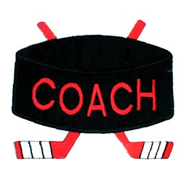 Coaching Hockey embroidery design
