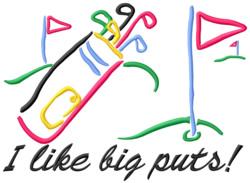 Big Puts embroidery design