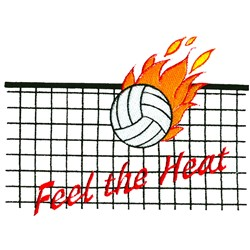 Feel the Heat embroidery design