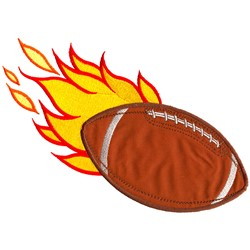 Flaming Football Applique embroidery design