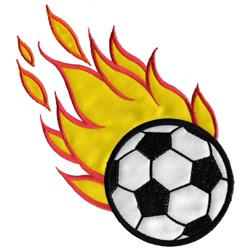 Soccer Ball Appliqué embroidery design