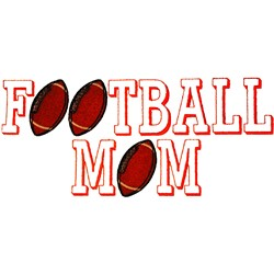 Football Mom embroidery design