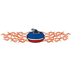 Flaming Curling Rock embroidery design