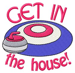 Get In The House embroidery design