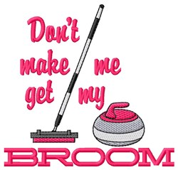 Get My Broom embroidery design