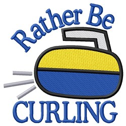 Rather Be Curling embroidery design