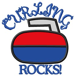 Curling Rocks embroidery design