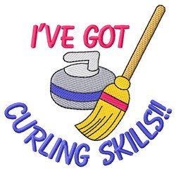 Curling Skills embroidery design
