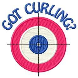 Got Curling embroidery design