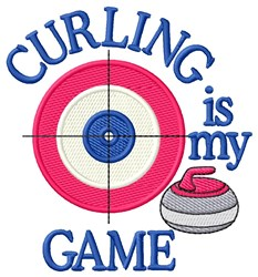 Curling Game embroidery design