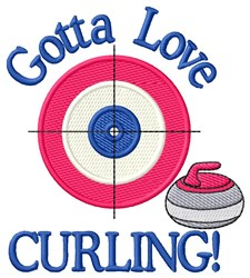 Love Curling embroidery design