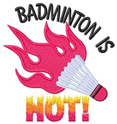 Badminton Hot embroidery design