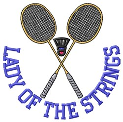 Lady Strings embroidery design