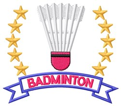 Badminton Stars embroidery design