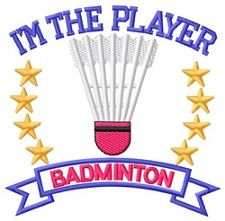 The Player embroidery design