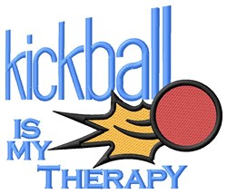 Kickball Therapy embroidery design