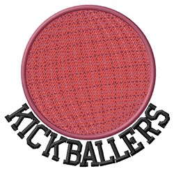 Kickballers embroidery design
