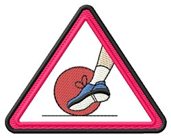 Kickball Logo embroidery design