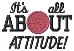 Attitude Kickball embroidery design