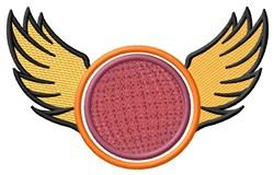 Winged Kickball embroidery design