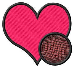 Heart Kickball embroidery design