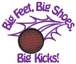 Big Kicks embroidery design