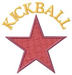 Star Kickball embroidery design