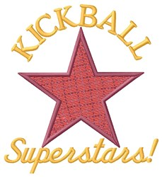 Kickball Superstars embroidery design