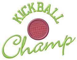 Kickball Champ embroidery design