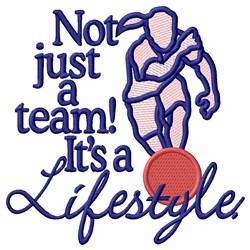 Lifestyle Kickball embroidery design