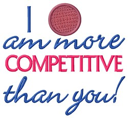 Competitive Kickball embroidery design