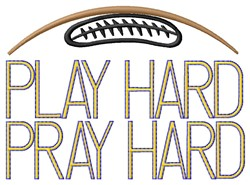 Play Hard Football embroidery design